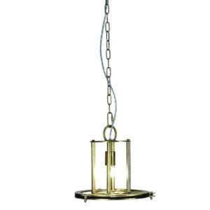 Antique Brass 14-Inch One-Light Pendant