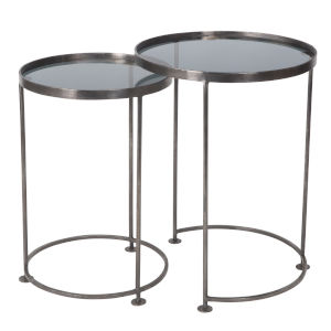 Silver 18-Inch Nesting Tables Set of Two