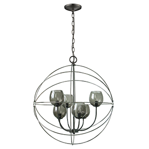 Cristobal Oil Rubbed Bronze Six-Light Chandelier