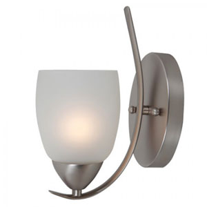One-Light Wall Sconce in Brush Nickel