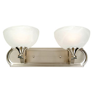 Glacier Point Satin Nickel Two-Light Vanity Light