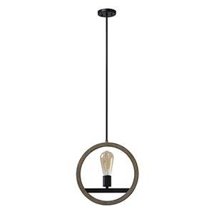 Paradoxial Oil Rubbed Bronze One-Light Pendant