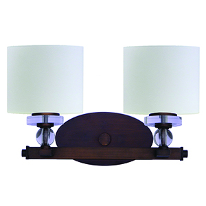 Mitchell Peak Oil Rubbed Bronze Two-Light Vanity