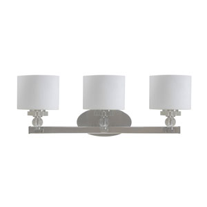 Mitchell Peak Three-Light Satin Steel Vanity