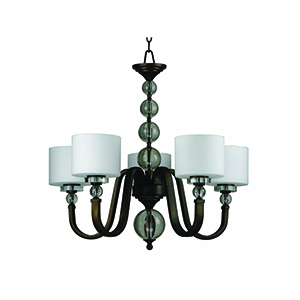 Mitchell Peak Oil Rubbed Bronze Five-Light Chandelier