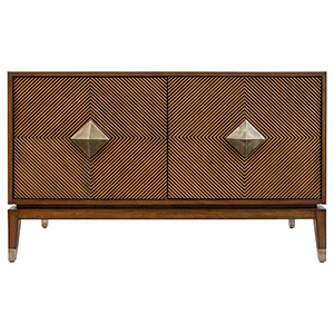 Diamond Accra Brown and Aged Brass Cabinet
