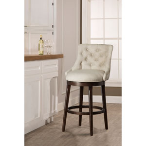 Halbrooke Smoke Swivel Bar Stool