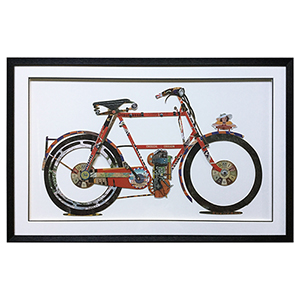 Boho Wheels Framed Wall Art