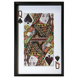Queen of Spades Framed Wall Art
