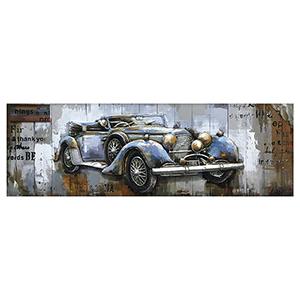 Blue Vintage Car Canvas