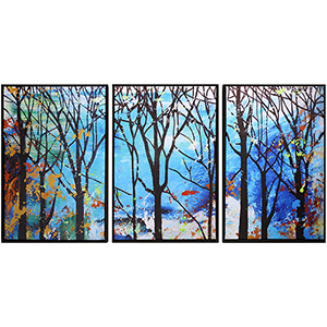Enchanted Forest Canvas, Set of Three