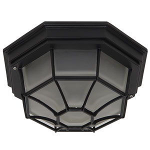 Exterior Lighting Series Oil Rubbed Bronze Two-Light Flush Mount