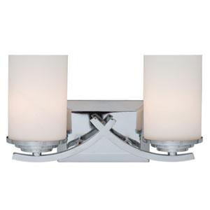 Chrome Two-Light Vanity Light