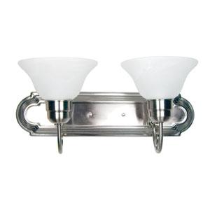 Satin Nickel Two-Light Vanity Light