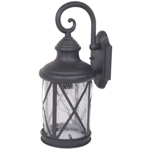 Mahony One-Light Black Finish Medium Exterior Light