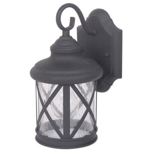 Mahony One-Light Black Finish Small Exterior Light