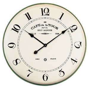 French Café Wall Clock