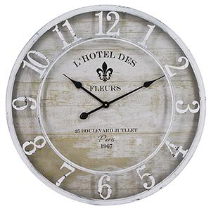 Hotel Des Fleurs White Wall Clock