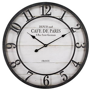 Café De Paris Shiplap Wall Clock