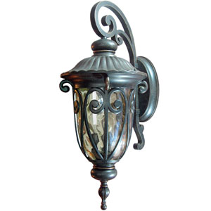 Viviana Oil-Rubbed Bronze Three-Light Exterior Light Wall Mount