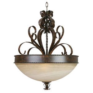 Mckensi Bronze Three-Light Pendant Light