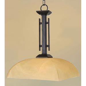 Half Dome Venetian Bronze One-Light Pendant