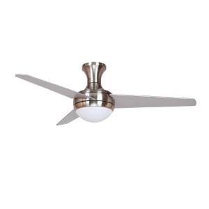 Adalyn Brushed Nickel Two-Light 48-Inch Hugger Ceiling Fan