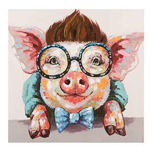Sophisticated Swine Canvas