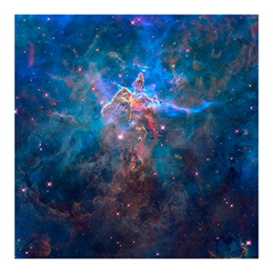 Mystic Mountain In the Carina Nebula Print