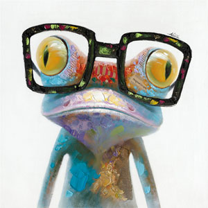 Hipster Froggy II: 20 x 20-Inch Wall Art