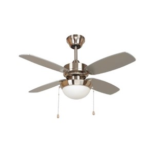 Ashley Bright Brush Nickel One-Light 36-Inch Ceiling Fan