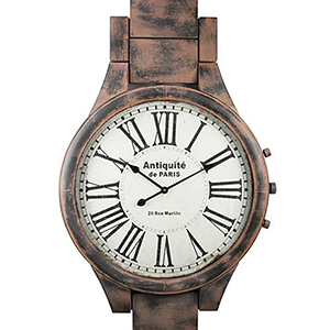 Antiquite Distressed Brown Wall Clock