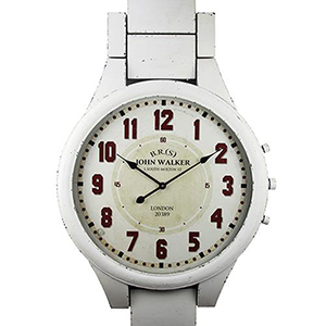 John Walker Distressed White Wall Clock