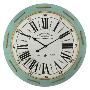Green and White Wall Clock