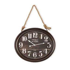 Black Wall Clock with Rope