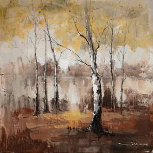 Autumn Mist: 40 x 40 Hand Painted Canvas