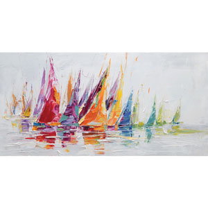 Rainbow Afloat Canvas