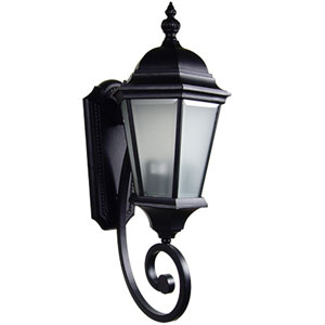 Brielle Black Two-Light Exterior Light Wall Mount