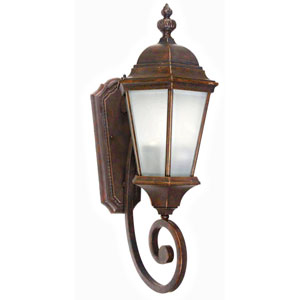 Brielle Brown Two-Light Exterior Light Wall Mount