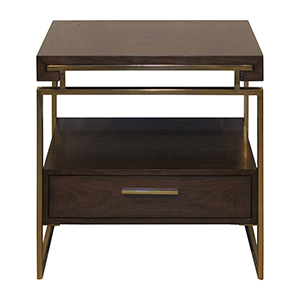 Duette Rich Nut Brown Side Table