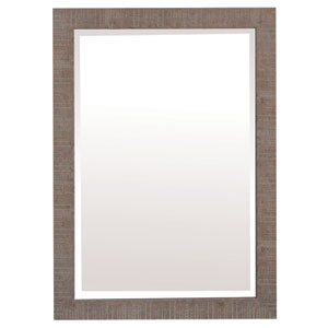 Shallow Brown 43-Inch Tall Framed Mirror