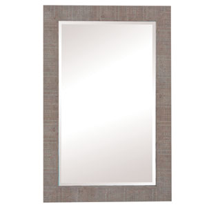 Shallow Brown 36-Inch Tall Framed Mirror