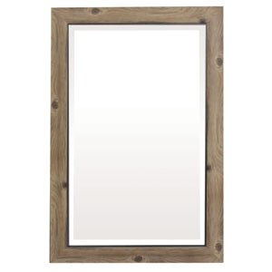 Gray and Black 36-Inch Tall Framed Mirror