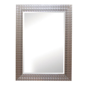 Silver/Gold Iridescent Blocks 43-Inch Tall Framed Mirror