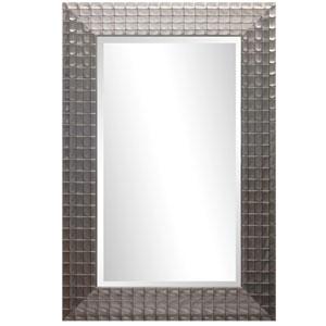 Silver/Gold Iridescent Blocks 36-Inch Tall Framed Mirror