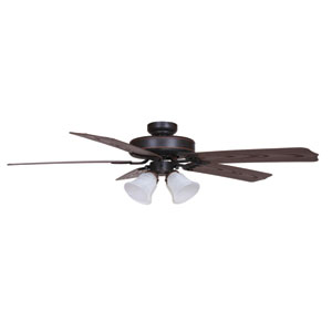 Patterson Oil Rubbed Bronze Four-Light 52-Inch Outdoor Ceiling Fan