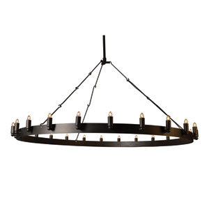 Farrington Raw Iron Grey 24-Light Chandelier