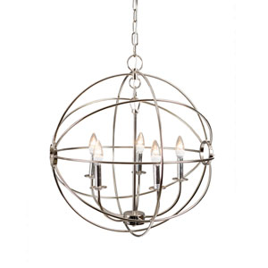 Shooting Star Nickel Plated Five-Light Chandelier