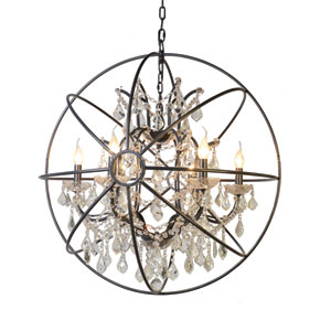 Contessa Black Six-Light Chandelier