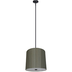 Lyell Forks Ebony Bronze Five Light 22-Inch Drum Pendant with Toffee Crunch Shade